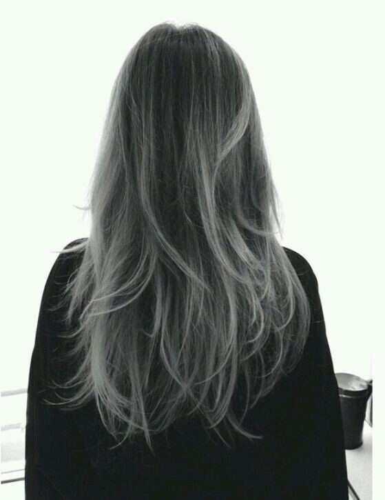 cheveux gris fonce