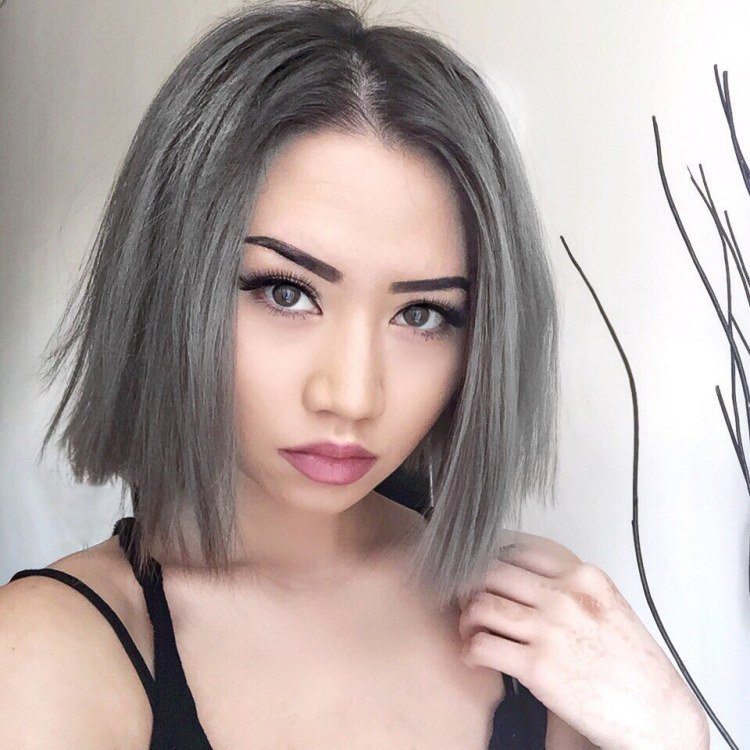 Teinture pour les cheveux en gris foncГ©