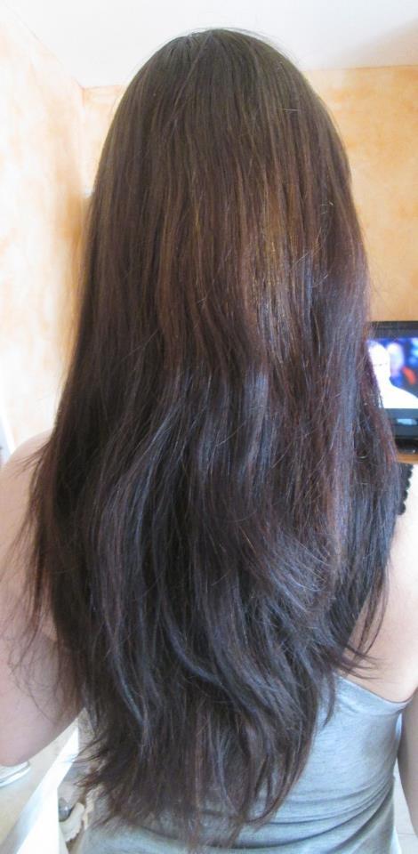 Couleur noisette sur cheveux brun