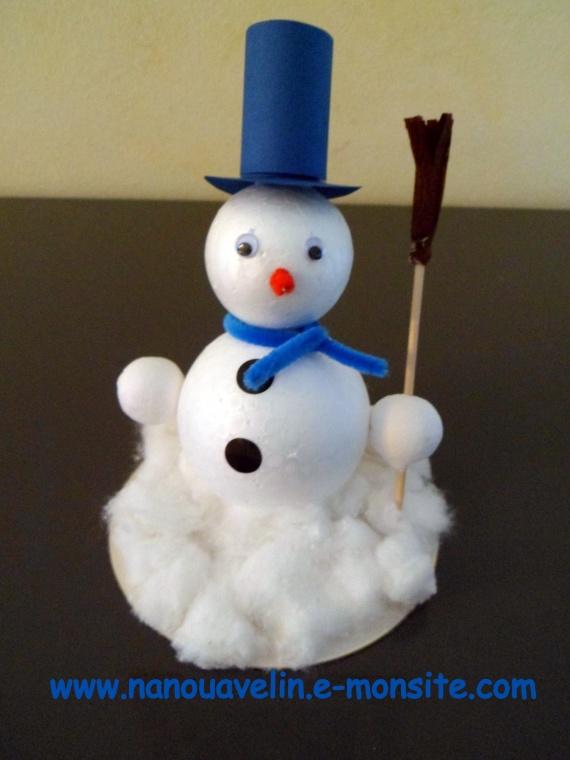 Bricolage de noel - bonhomme de neige