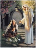 Marie et Jésus-Christ ressuscité Ésaïe 25:8 ; Jean 20:10–18