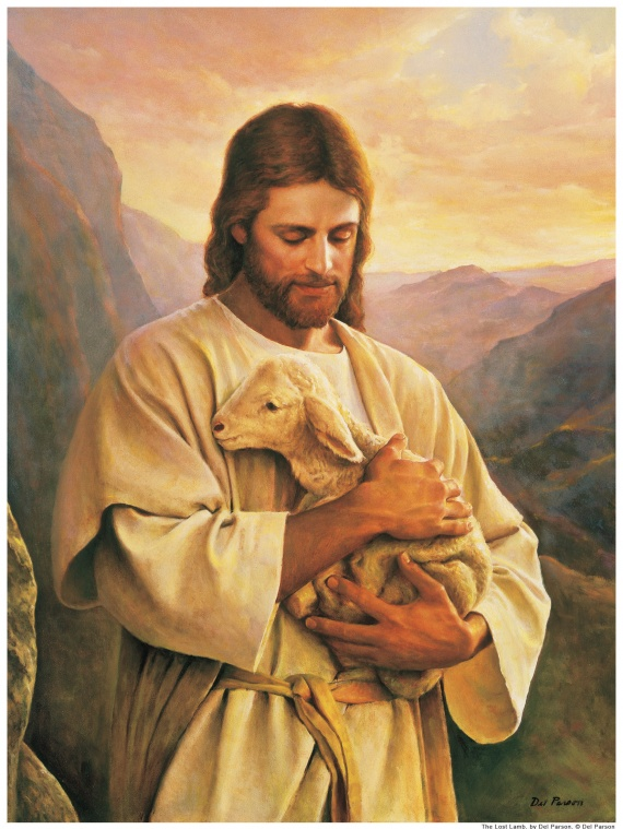 Jésus porte un agneau perdu Matthieu 15:4–7 ; Jean 10:11–16 ; Alma 5:37–42