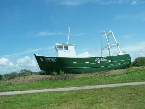 Le bateau à la Canche