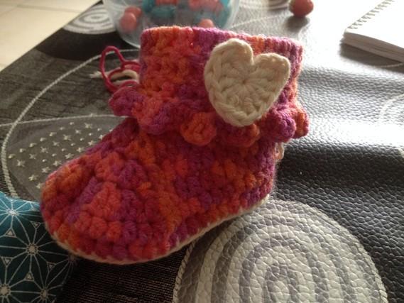 chausson bébé fille