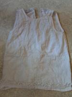 Kiabi Robe blanche 24 mois brodée