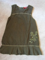 robe velours vert mimi couette 6 ans