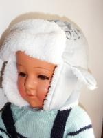 Bonnet gris bleu forme casquette 24/36 mois  2e