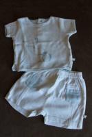 NOUKIE'S 2 pièces Short +T.shirt  3 mois 5 e