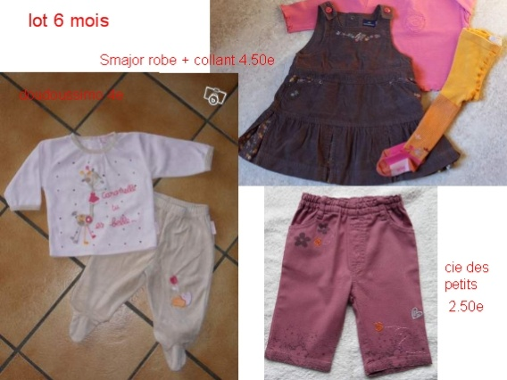 11e Lot 6 mois ELWING BABY le 10.07.11