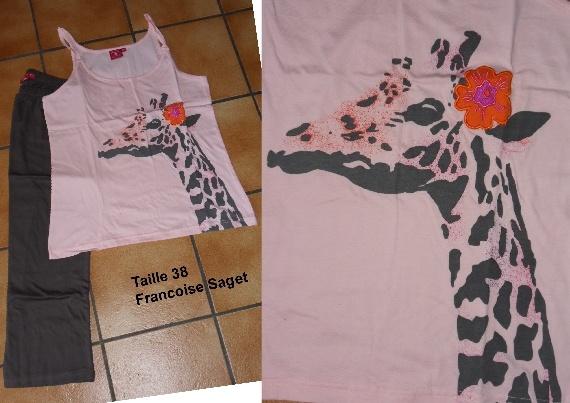 pyjama adulte girafes collection mafaldamousse. Black Bedroom Furniture Sets. Home Design Ideas