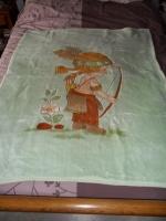 16€ Couverture pour lit bébé ou fond de parc Mesamours3 le 27.7.13