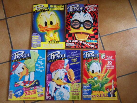 4e le lot de 5 magazines PICSOU ( années 90 à 93 )