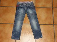 5€ ZARA Kid's Jean bleu denim effets used Taille ajustable TBE