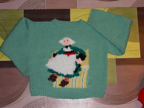4 ans tricoté main 3€