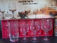 36e lot de 12 verres à eau + 6 verres à Cocktail MATIGNON