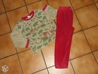4€ Pyjama animaux de la jungle 6 ans