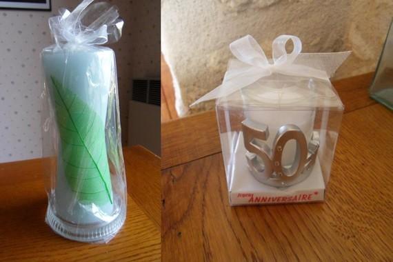 4€ lot 2 bougies Mme Hardy Maisse le 13-08