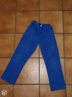 6 ans Pantalon bleu électrique 4€