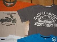 8 ans deux t-shirts thème moto 5,50€