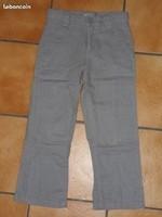 7 ans pantalon en lin vert baudet 4€