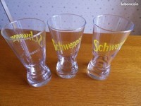 4€ lot de 3 verres à Paris le 15-06-17