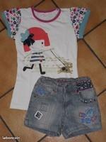 5€ short pick ouic , t-shirt Nova 6 ans