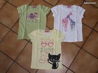 6 ans lot de trois t-shirts NKY 5€