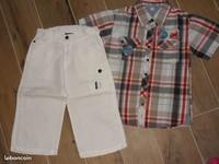6€ ORCHESTRA bermuda8 ans et chemisette 10 Ans