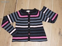4€ Gilet rayures Orchestra 8 ans