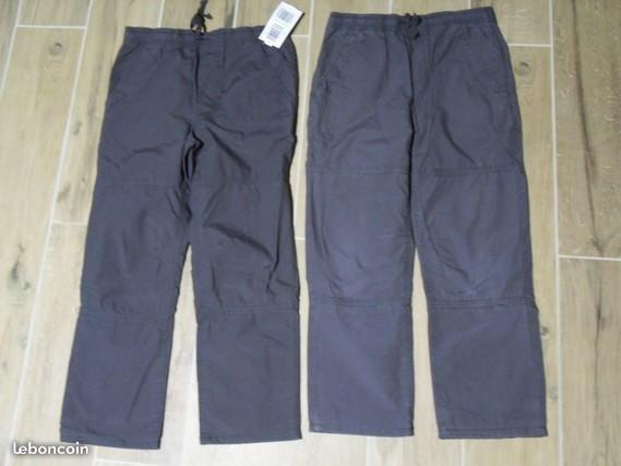 6€ lot 2 pantalons sport 8 ans dont 1 accroc taille 8 ans