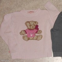 5€ Pull lulu castagnette taille 6 ans