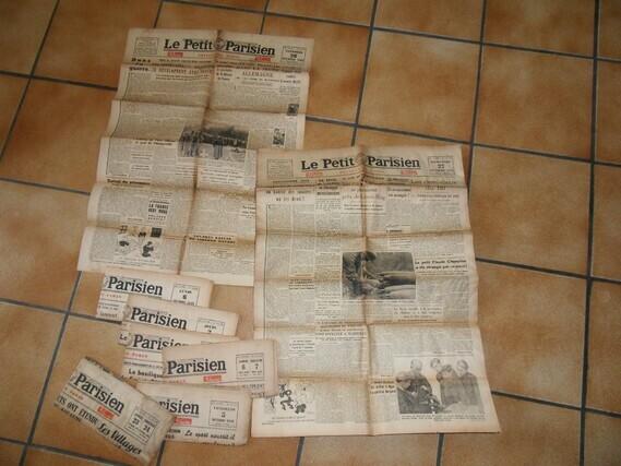 10€ le 03.07.20 10 journaux de 1943 (parisien )
