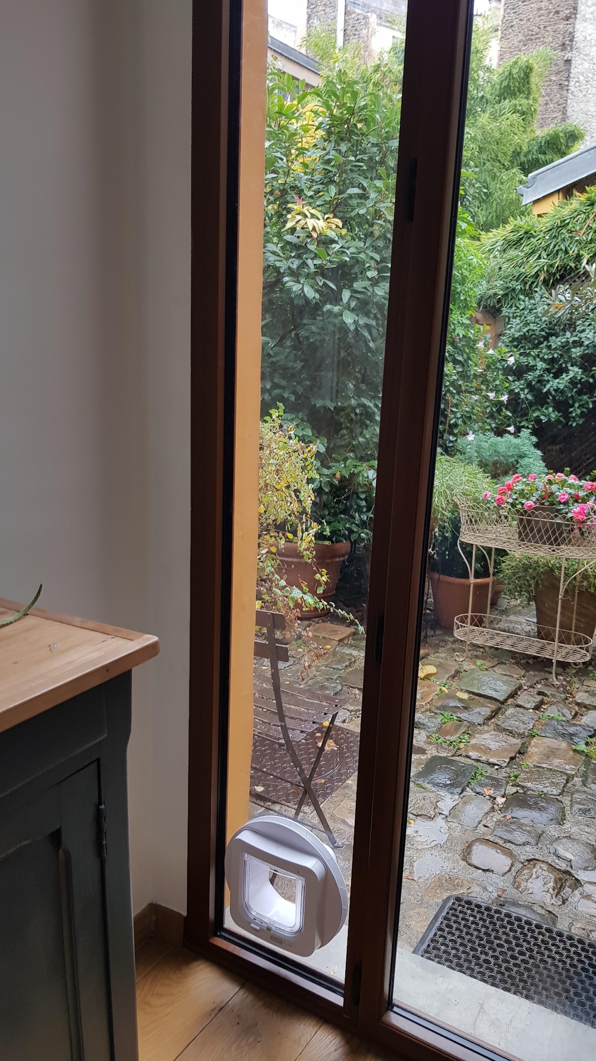 Chatière porte vitrée