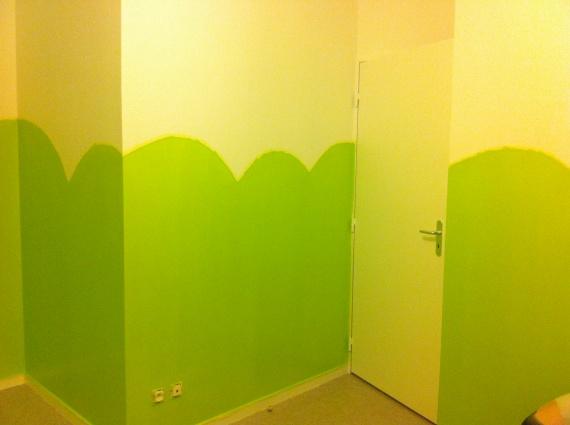 premiere couches de vert poser
