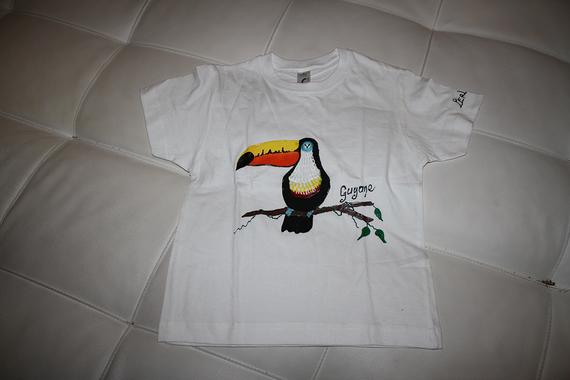 T shirt peint à la main de Guyane