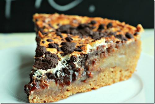Part de gateau chocolat façon cookie