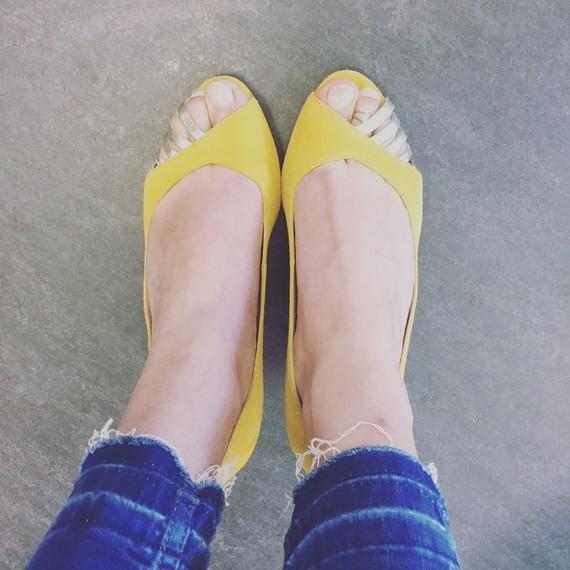 Escarpins jaunes