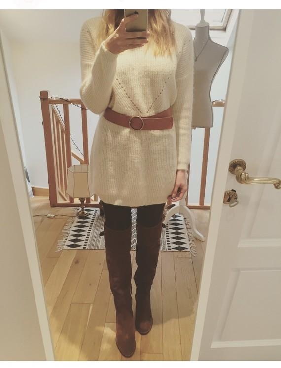 Cuissardes et robe pull