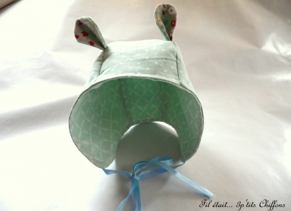 Bonnet de naissance souricette