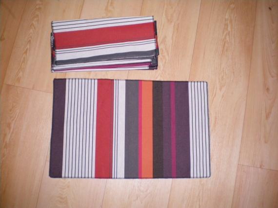 3 lot de 6 sets de table avec chutes tissu artiga mes cr ations brico couture serviettage. Black Bedroom Furniture Sets. Home Design Ideas