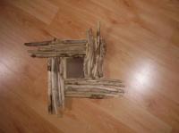 mon 1er cadre en bois flotté
