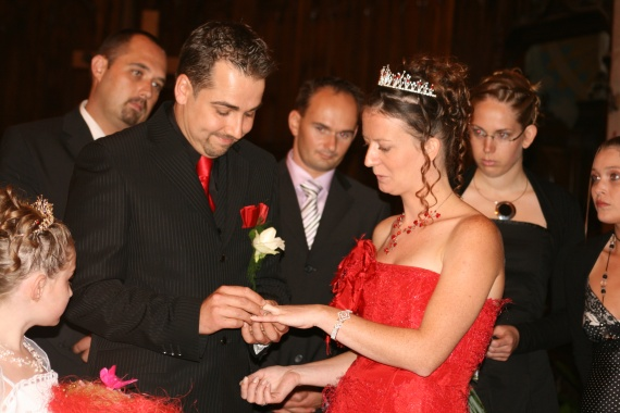echange des alliances - photos du mariage - titouillette - Photos ...