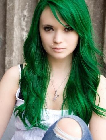 couleur cheveux vert #2