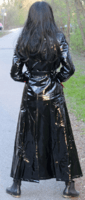 Charming Lady in shiny raincoat