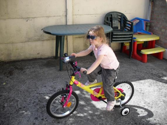 Valentine en vélo