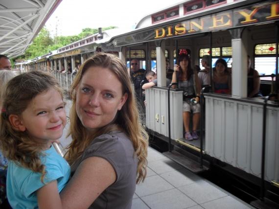 Valentine et maman Disney juillet 2010