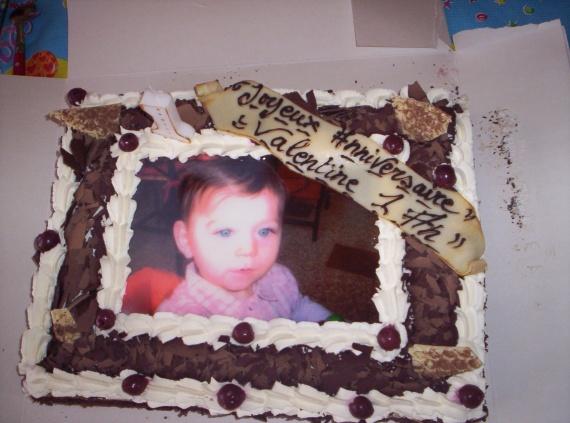 Le gâteau d'anniversaire de ma soeur