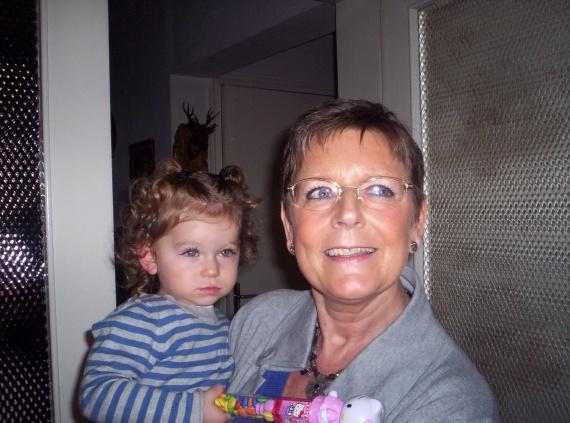 Valentine et mamie Claudine