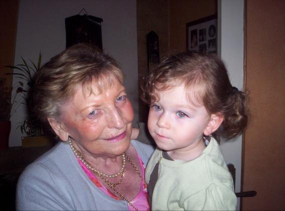 Valentine avec notre arrière grand-mère
