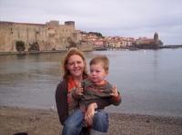 Avec maman à Collioure